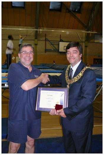 Receiving Jack Petchey award for 2007 from Mayor of Brentwood, Frank Kenny