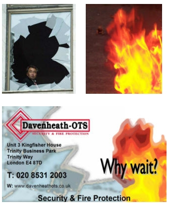 Inspiration for and actualisation of fridge magnet with fire and broken glass