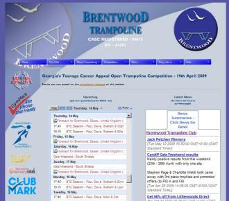 New Brentwood Trampoline Club Website