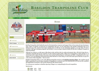 Basildon Trampoline website
