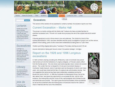 Colchester Archaeological Group website image
