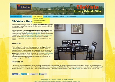 EllaVista luxury villa website
