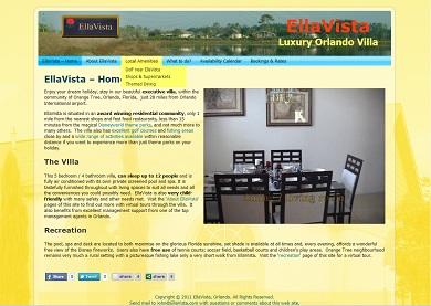 EllaVista luxury villa website