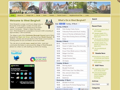 West Bergholt Parish Website Home Page
